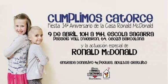 14è aniversari casa Ronald McDonald Barcelona